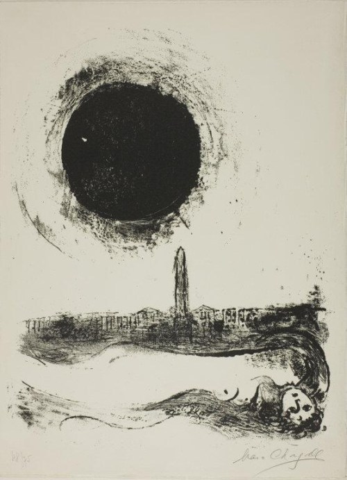 Chagall Black Sun Over Paris 1952